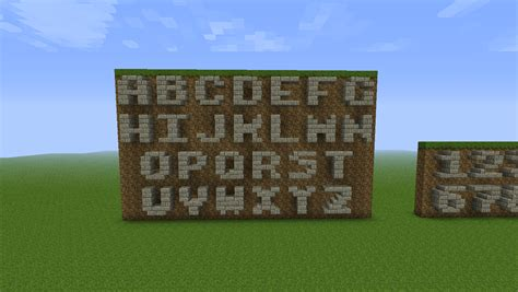how to build a r writing letters in 3x3 areas a bit annoying minecraft
