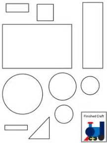 shape train pattern train paper craft color cut glue to match picture