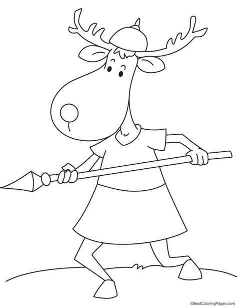 spear coloring pages
