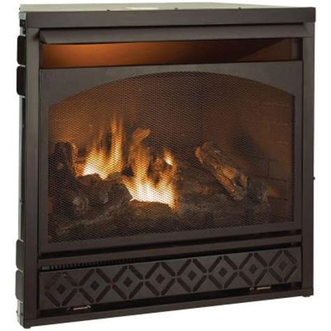Ventless Gas Fireplace Home Depot by 36 38 In Vent Free Propane Gas Fireplace Insert