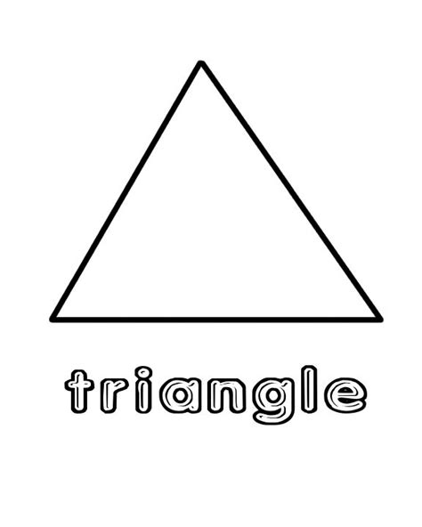 Preschool Triangle Worksheet Shapes Color Page Home Triangle Tree Coloring Page