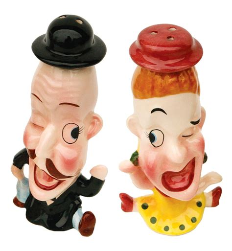 funny salt and pepper shakers cartoon couple mr and mrs funny man and woman ceramic salt