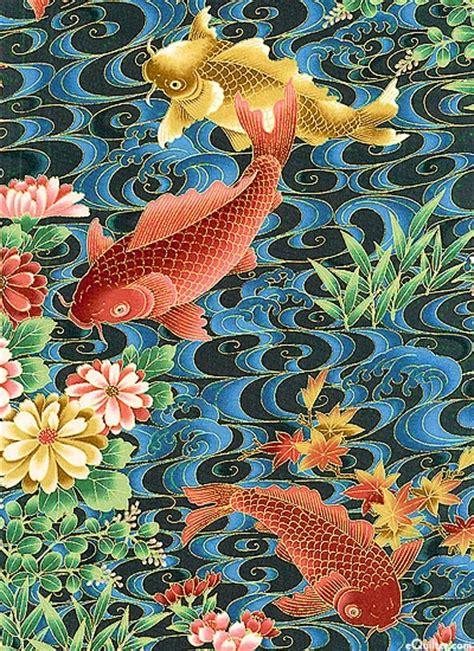 japanese koi pattern koi garden water world at equilter com fiber arts