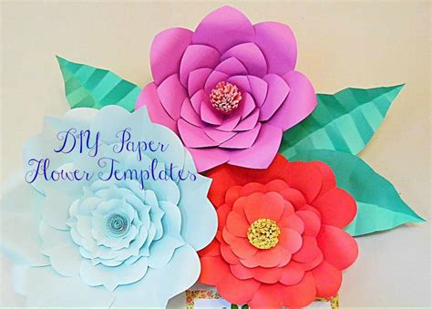 giant paper flowers pattern giant paper flower templates large diy backdrop flowers