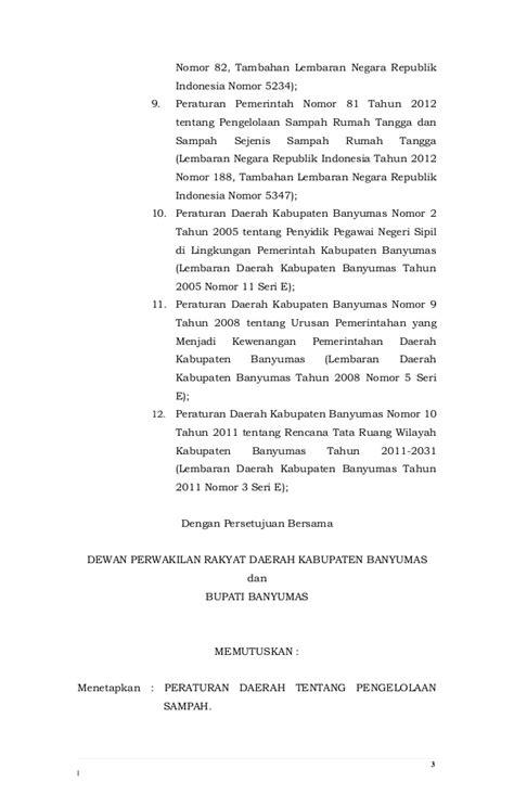 Uuri 12 Thn 2011 Pembentukan Peraturan Perundang Undangan peraturan daerah kabupaten banyumas nomor 6 tahun 2o12 tentang pengel