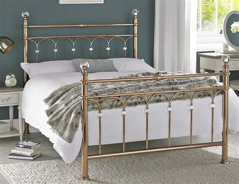 gold metal bed krystal rose gold metal bedstead