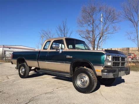 1993 dodge w250 cummins for sale 1993 dodge w250 4x4 cummins turbo diesel rust free 1st