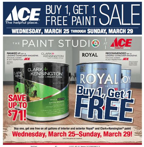 ace hardware buy 1 get 1 free paint sale