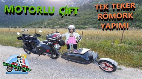 motorlu cift tek teker roemork yapimi motosiklet roemorku