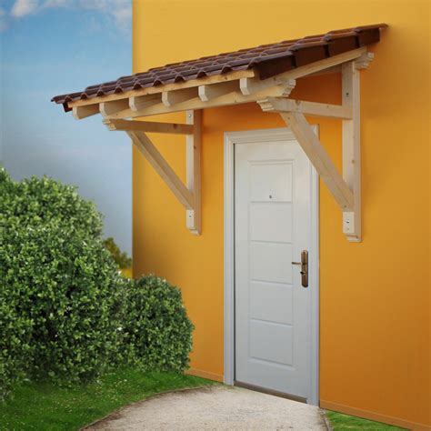 The Door Awning by Wood Canopy Porch Door Awning 2050 Mm Panel Solid Timber