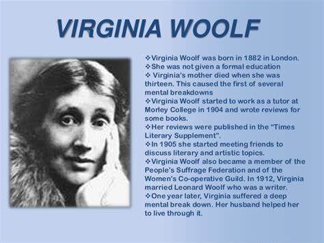 biography virginia woolf to the lighthouse by woolf