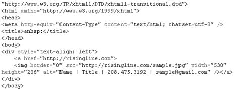 Risingline Blog 187 Blog Archive Adding Html Email Signatures To Gmail Risingline Blog Html Email Signature Code Template