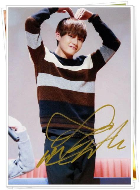 Tas Ransel Promo Kpop Korea Bts Limited bts v tae hyung autographed signed original photo 4 6