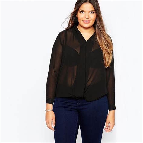 Blouse Big Size Murah blouse plus size murah malaysia aliexpress buy xxxl chiffon blouses 5xl sheer