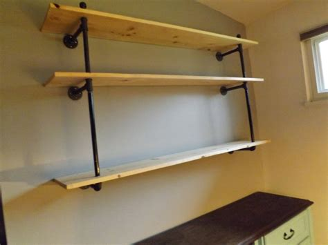2 sew s pipe shelves diy how to