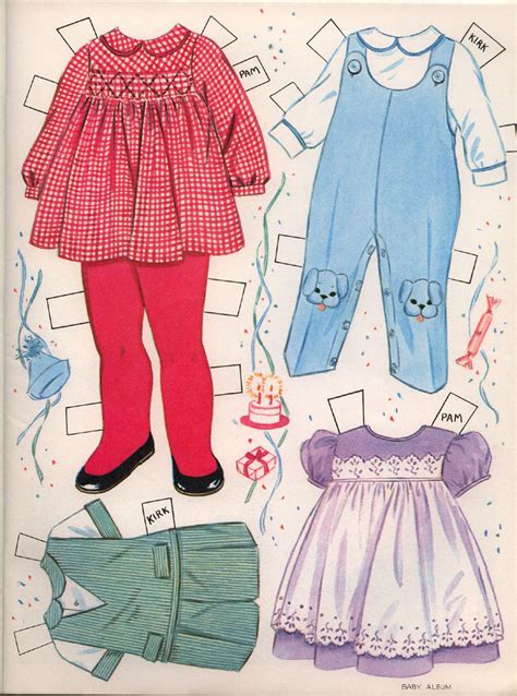 Paper Doll For - baby album paper dolls continued marges8 s