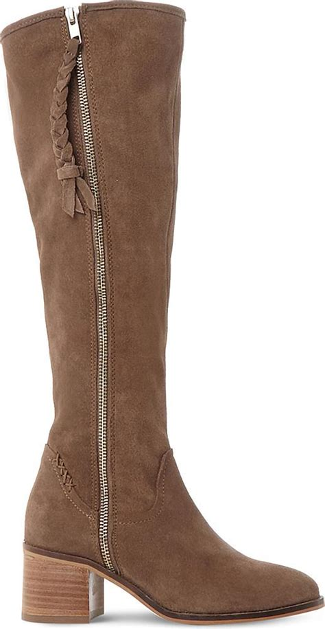 steve madden lasso suede knee high boots in brown lyst