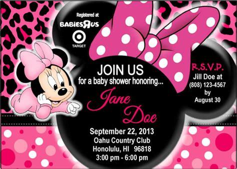 baby minnie baby shower invite