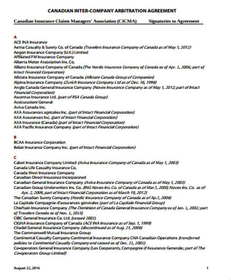 employment arbitration agreement sle arbitration agreement 9 exles in word pdf