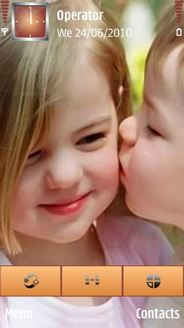 hot kiss themes for mobile phones download cute baby kiss s60v5 themes for mobile phone