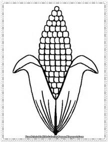corn coloring pages printable free printable