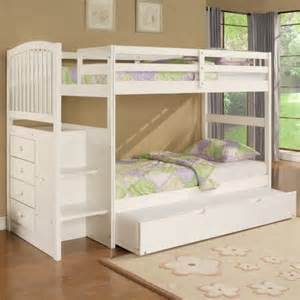 White Bunk Bed With Storage Bunk Bed With Storage Stairs Traditional Beds By Hayneedle