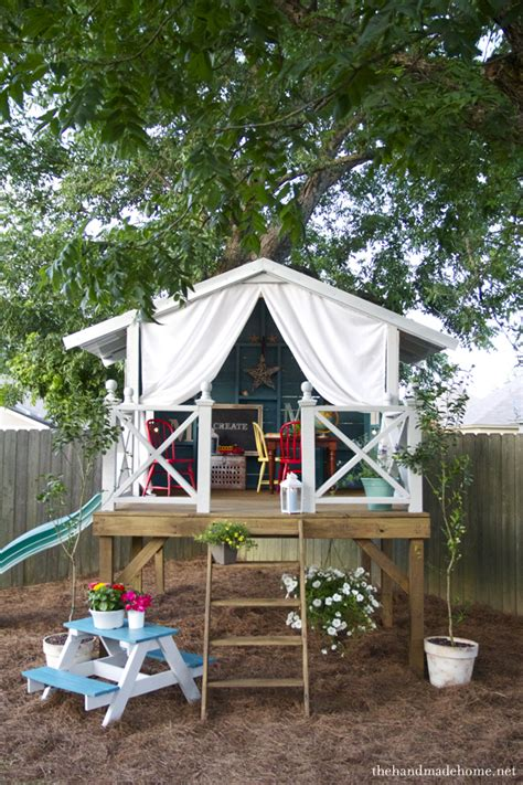 backyard treehouse for kids room decorating before and after makeovers