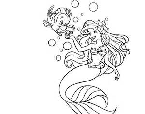 ariel flounder coloring pages cooloring