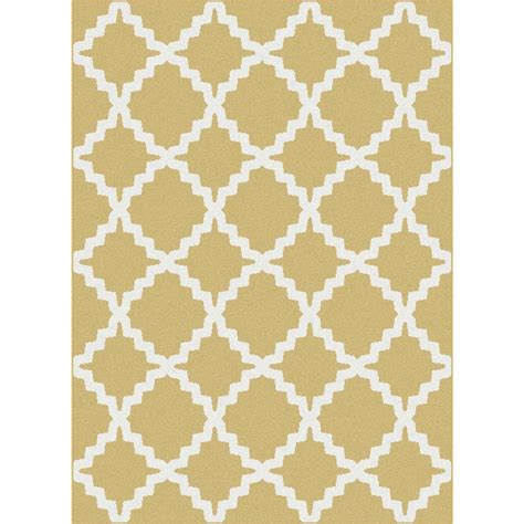 yellow accent rug tayse rugs metro yellow 2 ft 7 in x 7 ft 3 in