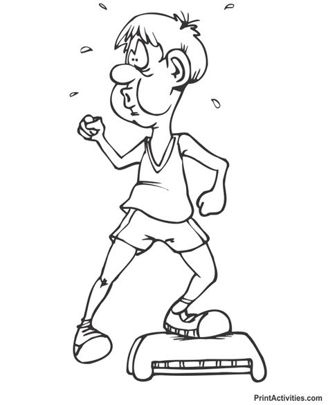 Free Exercise Coloring Pages Fitness Coloring Pages