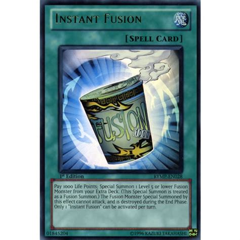 Yugioh Instant Fusion 1st Edition instant fusion rymp en028 1st edition yu gi oh card