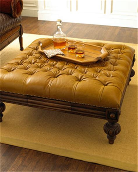 oversized tufted leather ottoman oversized tufted leather ottoman