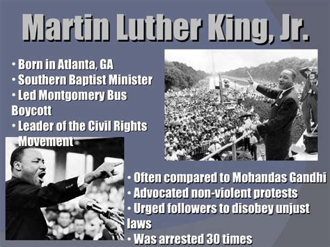 Unit 9 Powerpoint Civil Rights Movement Powerpoint Martin Luther King