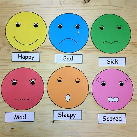 faces of emotion printable feelings faces for preschool and kindergarten kids