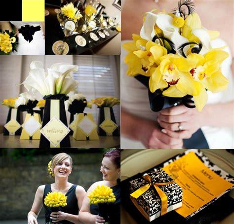 yellow black blog yellow weddings