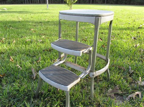 Cosco Aluminum Step Stool by Vintage Cosco Metal Step Stool Step Chair Stool Step Ladder