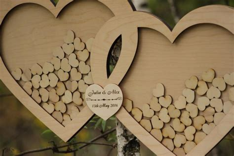 Wedding Box And Guest Book by Wedding Guest Book Alternative Guest Book Drop Top Hearts