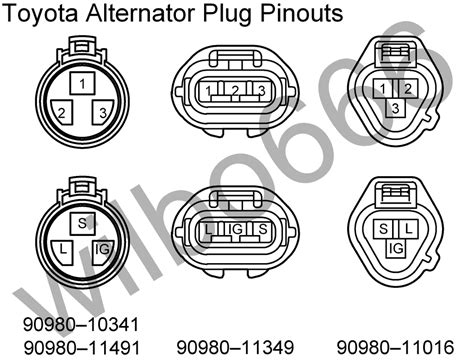 87 toyota alternator pigtail wiring diagram 87