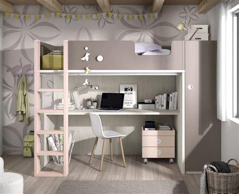chambre ado avec mezzanine 3401 chambre ado compos 233 e d un lit haut meubles ros meubles ros