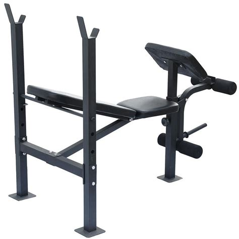 weight bench with bar soozier incline flat exercise free weight bench w curl
