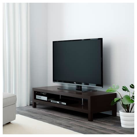 tv bench with storage lack tv bench black brown 149x55 cm ikea
