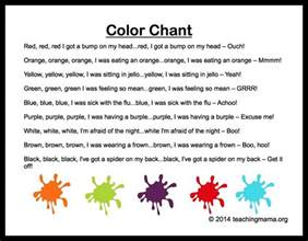 color rhymes 10 preschool songs about colors