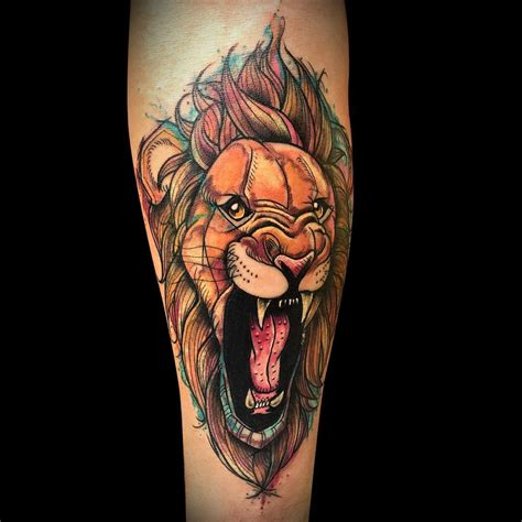 lion tattoo design 110 best designs meanings choose