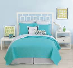 Turquoise Quilt Bedding Santorini Coverlet Turquoise By Bedding
