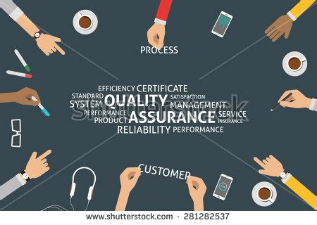 Qa Sign Template by Vector Quality Assurance Concepttemplate Stock Vector
