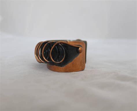 Handmade Copper Cuff Bracelet - renoir vintage handmade copper coil cuff bracelet 1950 s