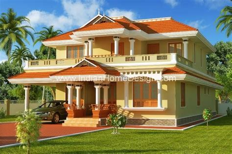 south indian style house home 3d exterior design 1 jpg