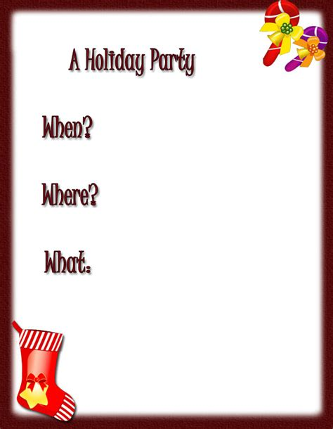 free holiday party invitations free christmas invitations