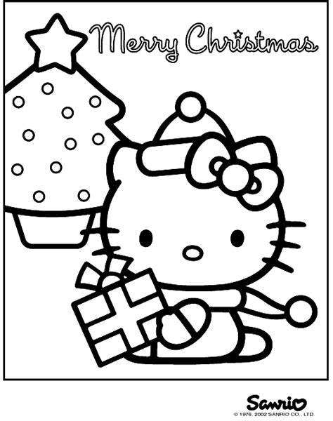 disney hello kitty christmas coloring pages