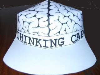 Brain Hat Template by Free Paper Thinking Cap